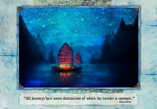 The Dream Traveler - January card by Aimee Stewart