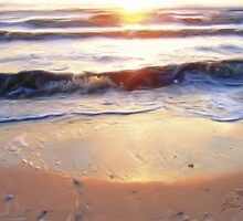 Little Waves at Sunset by Beachy