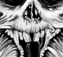 One Nasty Skull Sticker