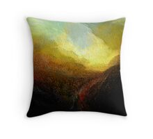 gorge .... approaching storm  Throw Pillow