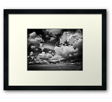 The runaway train came over the hill and she blew Framed Print