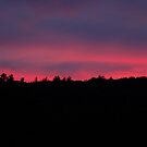deep color sunset in september by Roslyn Lunetta