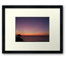 Saturday Sunset.... Framed Print