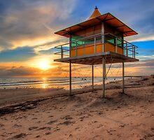 Surf Lifesaver Tower, Glenelg Beach by Dale Allman
