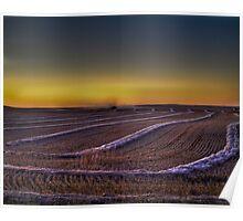 September Evening On The Prairie Poster