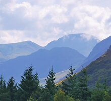 White Crag and Mellbreak near Crummock Water. by Phil Mitchell