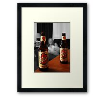 He'll Never Find Out About Us Framed Print