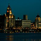 Liverpool Waterfront at Night by Michael Hadfield