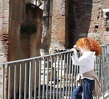 a moment, a quietness, a history, a child - Rome by Sanchita  Mukherjee
