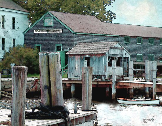 Dockside in High Summer by RC deWinter