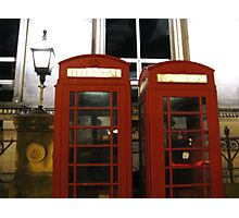 ENGLISH TELEPHONE BOXES Photographic Print