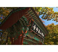 Sacred Gate - Haein Temple, South Korea Photographic Print