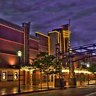 Rainy Night at the Theater by Gene  Tewksbury