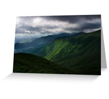Moody Gajisan - Gajisan Provincial Park, South Korea Greeting Card