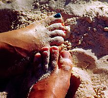 Feet in the Sand by Gene  Tewksbury