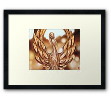 Golden Crane Framed Print