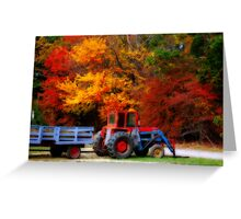 Apple Orchard Tractor  II Greeting Card