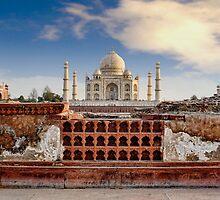 Taj Mahal (Monument of Love), Agra, India by Scootarts