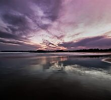 Sunset At Mollymook Beach by Sam Ilic