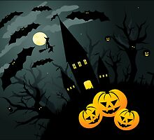 Halloween background by Olga Altunina