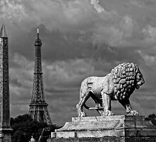 Place du la Concorde in Black and White by randyharris