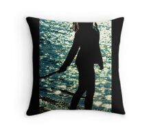 ...lazy blues... Throw Pillow