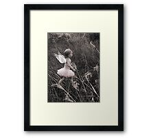 """""""Angel Ready For Flight"""" - A Tribute To Breast Cancer Awareness Framed Print"""
