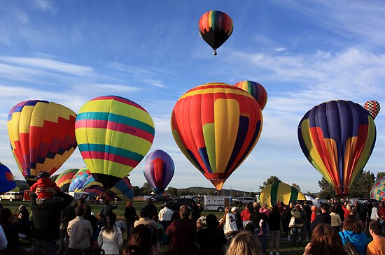 Hot Air Balloons, Princess Louise Park, Sussex, 2009 by Jamie Roach