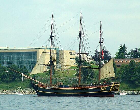H.M.S.Bounty-Sailpast by George Cousins
