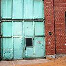 green door - old warehouse by Lynne Prestebak