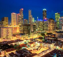 Singapore Central Business District Area by Joshua Sosrosaputro