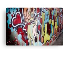 melbourne grafitti 2009 Canvas Print