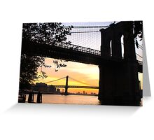 Two Bridges At Sunrise Greeting Card