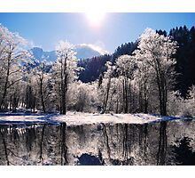 Reflections of Winter, Austria Photographic Print