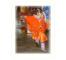 Young Dance Contestant ( Pow Wow Series) Art Print