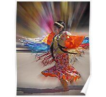 Little Fringe Dancer Poster