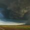 Outback Thunderstorm Moree Road by Michael Bath