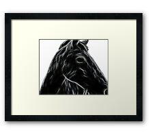 Fracty horse Framed Print
