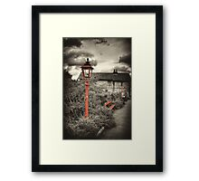 By the Gas Light - Levisham Station Framed Print