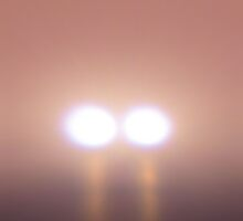 Eerie Lights In The Fog by WILDBRIMOWILDMAN