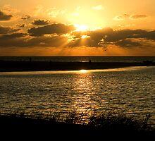 Sunset at Coral Bay by Gary Wooldridge