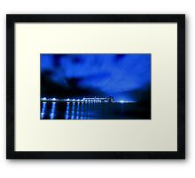 Kwinana Grain Jetty At Night  Framed Print