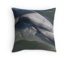 Monkey Mia Dolphin Throw Pillow