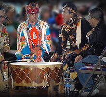 Drummers  (Pow Wow Series) by Dyle Warren