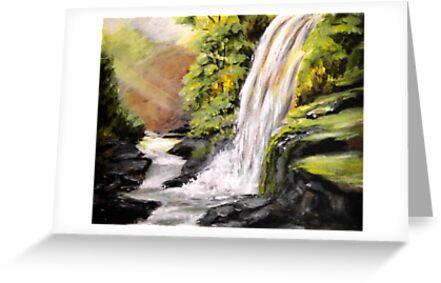 Waterfall by Pamela Plante