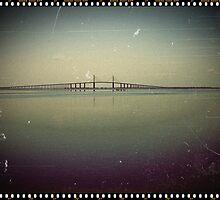 The Sunshine Skyway Bridge  by Virginia N. Fred