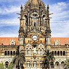 Victoria Terminus, Mumbai, India by Scootarts