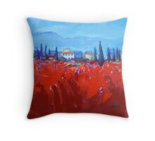 Red Tuscan Study Throw Pillow