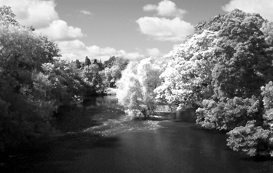 Infrared River Wharfe by John Honeyman