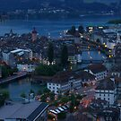 Lucerne from Gütsch by Frederic Chastagnol